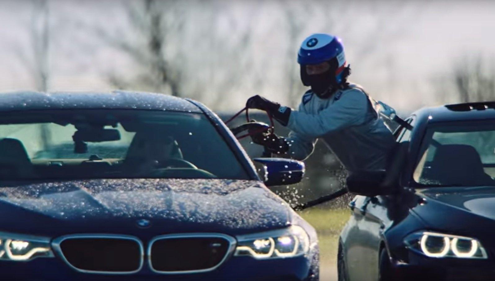 BMW M5 rekord Guinnessa w drifcie